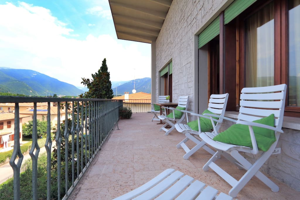 Upstairs balcony, to enjoy the sun and the view