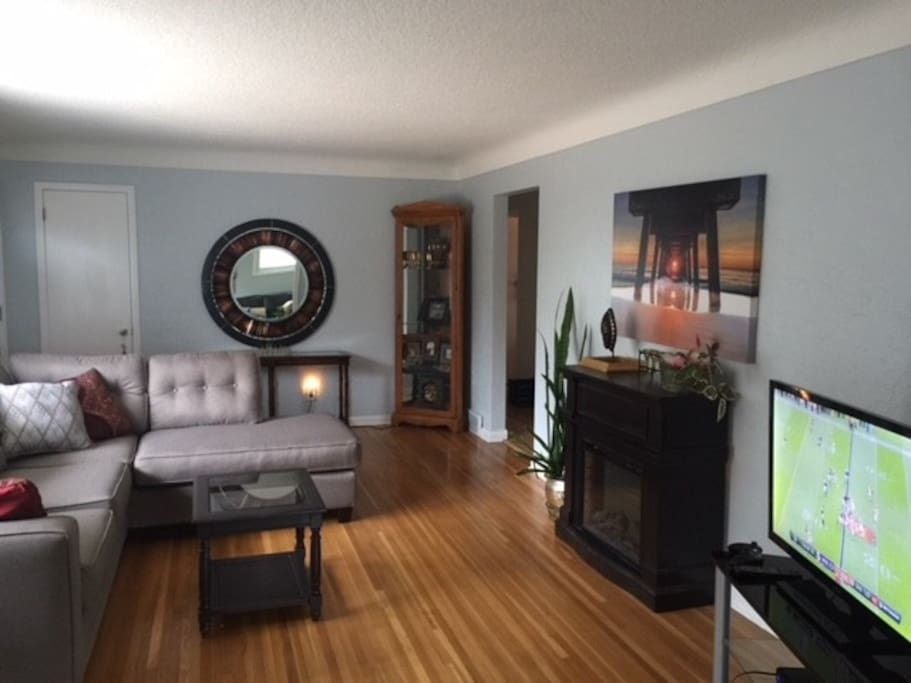 Front entry and living room