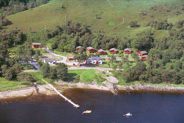 Chalets with stunning views of Glencoe