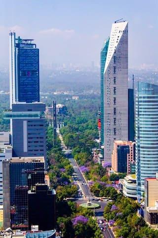 Near chapultepec 4 bedrooms 3 bath  for 3to 7 peop - Ciudad de México - Apto. en complejo residencial