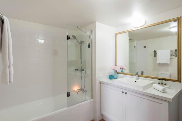 1 Bedroom Apartment: Bathroom