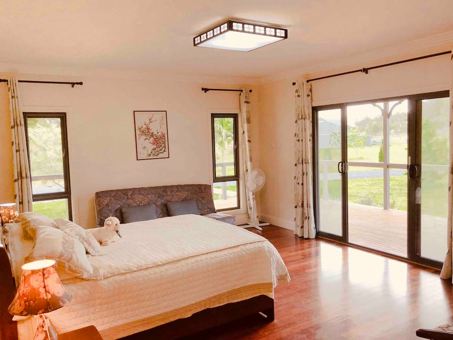 Big private bedroom with en-suite and view.