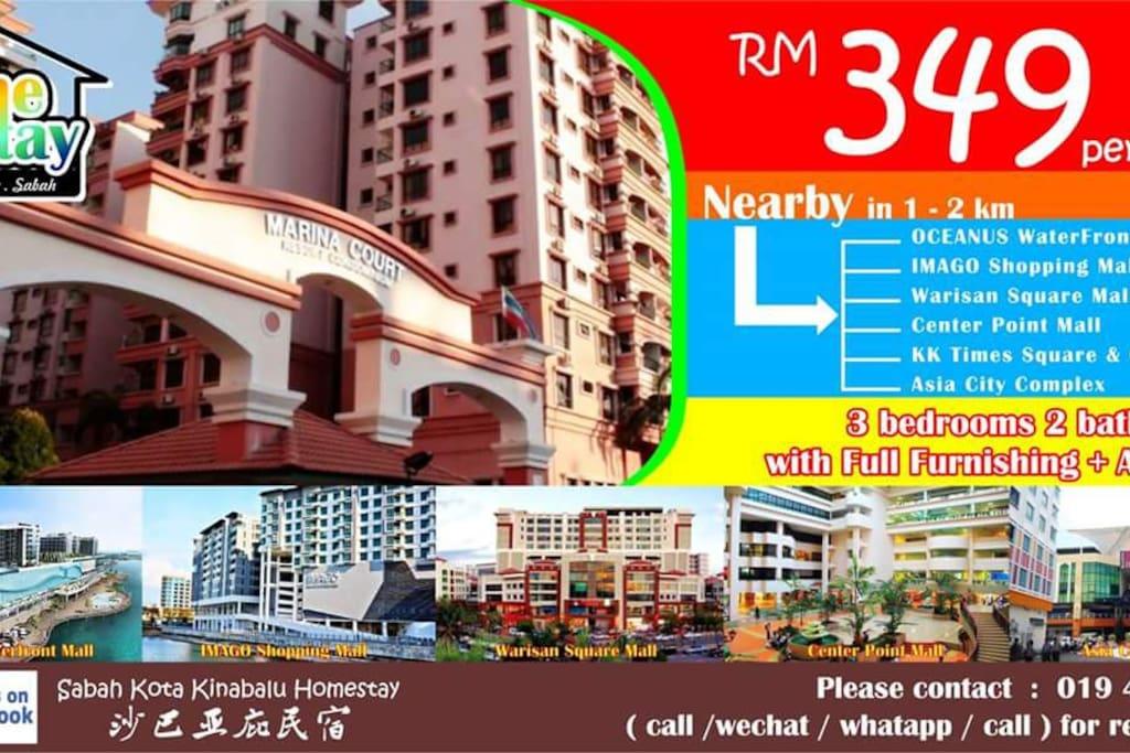 (KKHomestay 10 Units) Marina Court Resort Condominium, Kota Kinabalu, Sabah