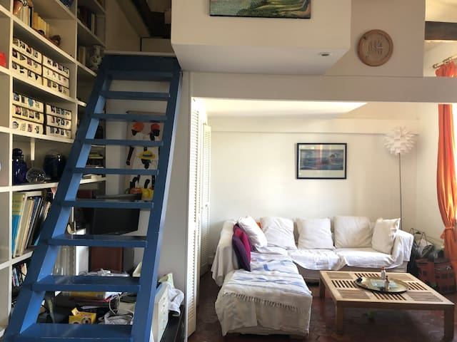 Authentical place with stairs for the room
