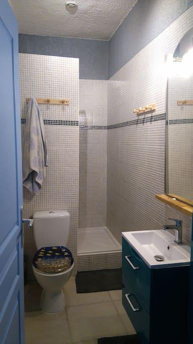 salle de bain, wc, douche
