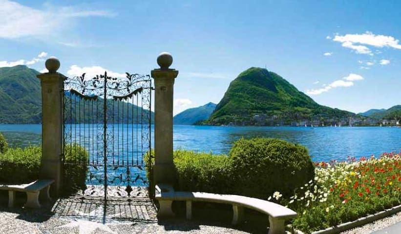 CLOSE TO THE LUGANO CITYCENTER AND TO THE BUS STOP