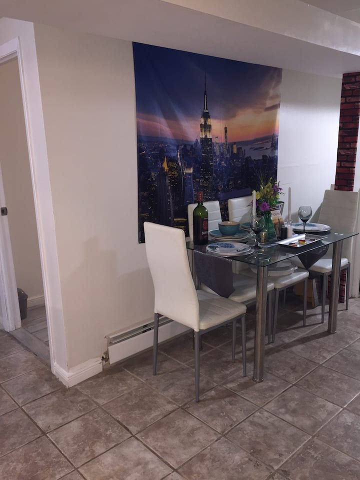 Newly decorated apartment available with own entry