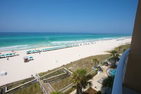 Aqua 2BR/2BA/Bunk 4th Floor Free Wifi Free Fun Included with Rental Walk 2 Pier Park West End of PCB - Panama City Beach