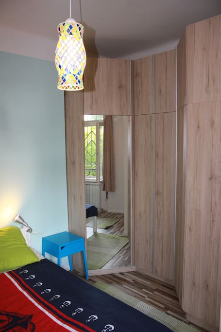bedroom with built-in wardrobe