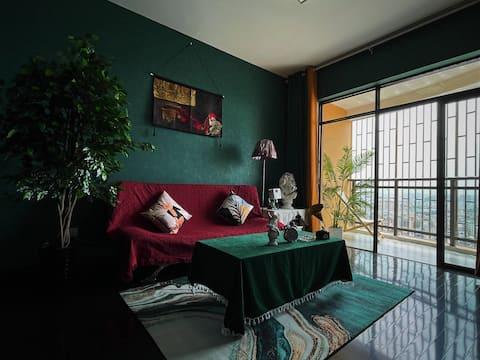 侣舍 青时 复古风 私享巨屏投影 可做饭 观景阳台 中央大街