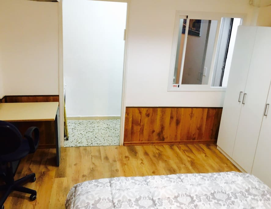 Bedroom With Laptop Friendly Workspace