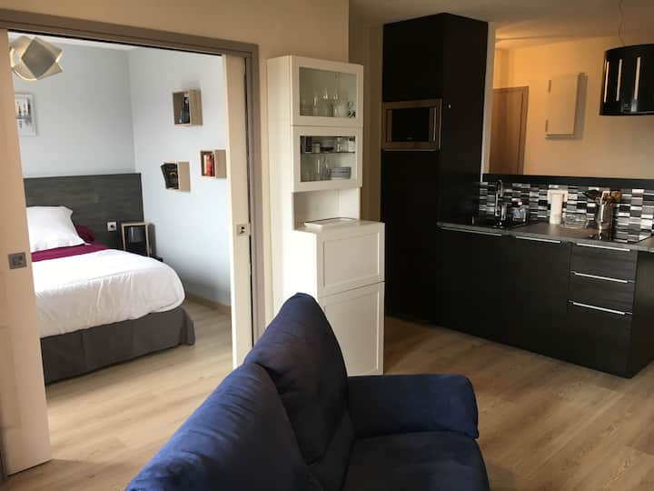 1 bedroom apartement close to the airport