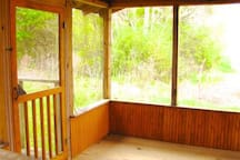Screened porch view.