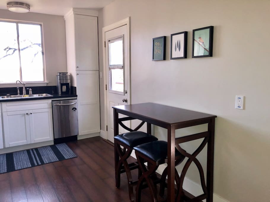 Small table in kitchen with room for 2
