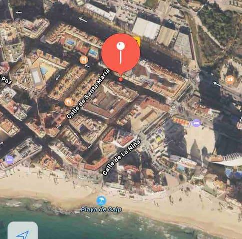 Calpe, playa arenal, good location, close to beach
