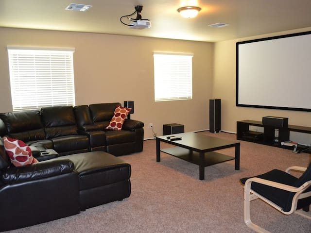 "120"" Movie Theatre with 7.1 Surround Sound"