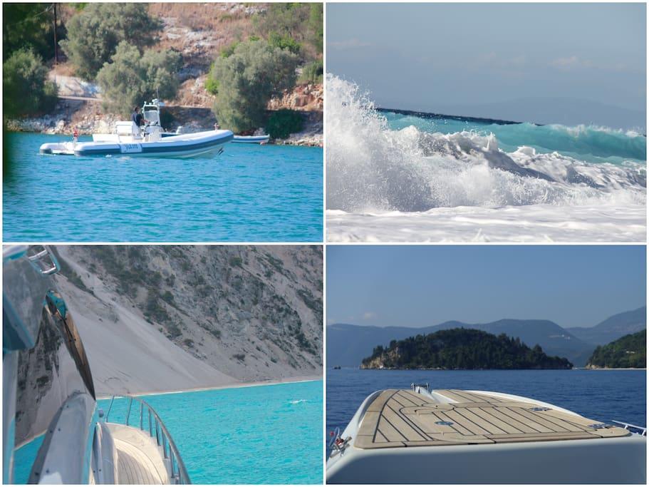 The Ionian Sea ,a great destination to discover on a private rib cruise along the unique coastline .