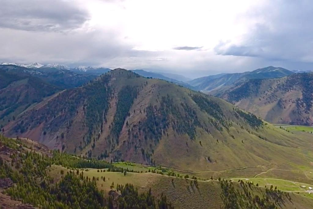 The valley and mountains of French Creek!