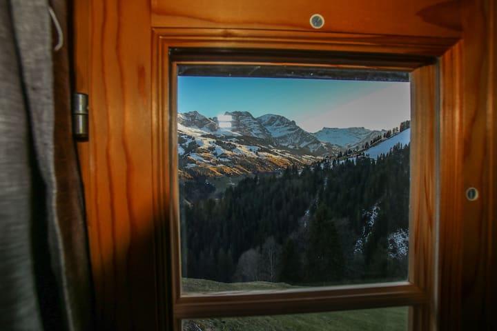 Aussicht aus dem Schlafzimmer.