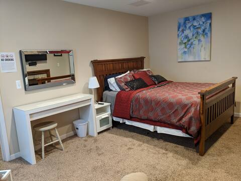 Entire apartment ready for your stay. Very Private