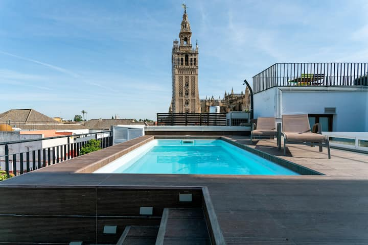 Pool in Giralda. Luxury and comfort in Cathedral