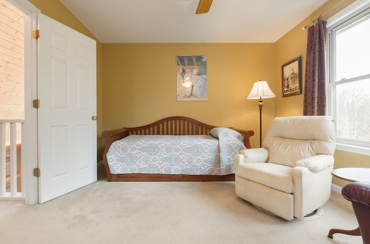 Trundle bed in the second bedroom upstairs. This does attach to the bathroom like the queen room