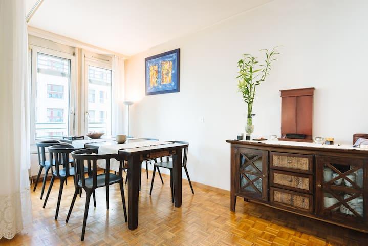 Spacious bedroom with own bathroom in city center - Genève - Appartement