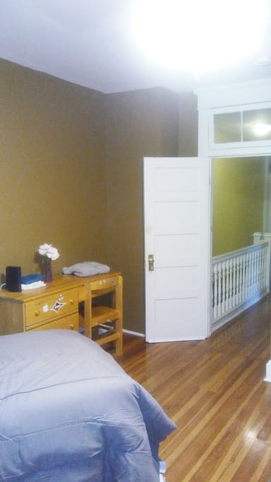 Large Master bedroom in renovated townhouse.  Close to downtown.