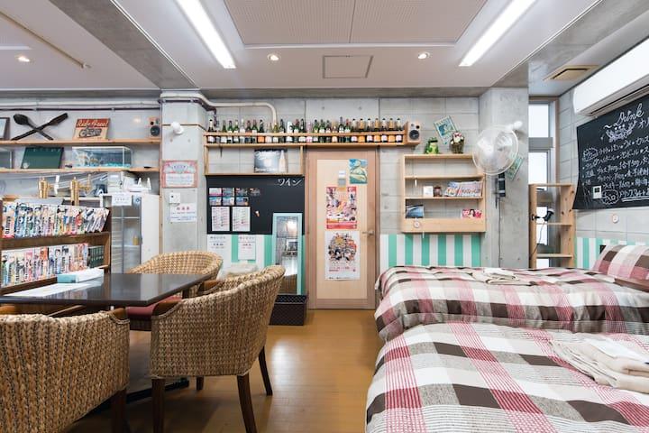 Near Kokusaidori bar-like room! Max4 +pWifi#AK1
