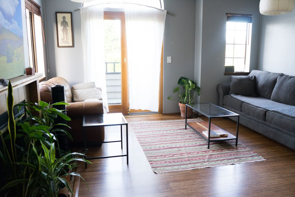 Bright, spacious living area