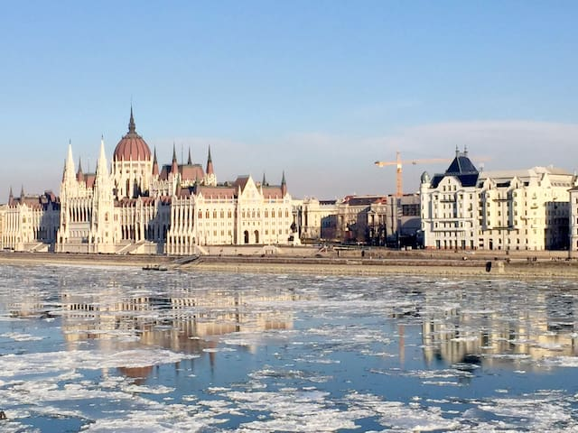 Luxury view river Danube Parliament