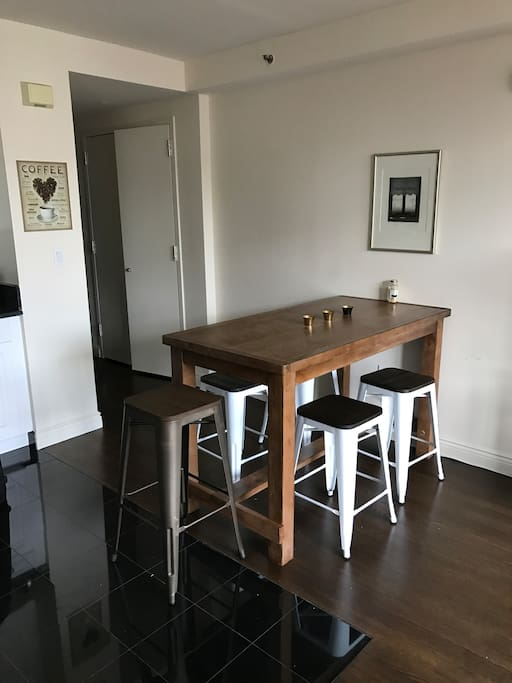 Kitchen table with room for four people