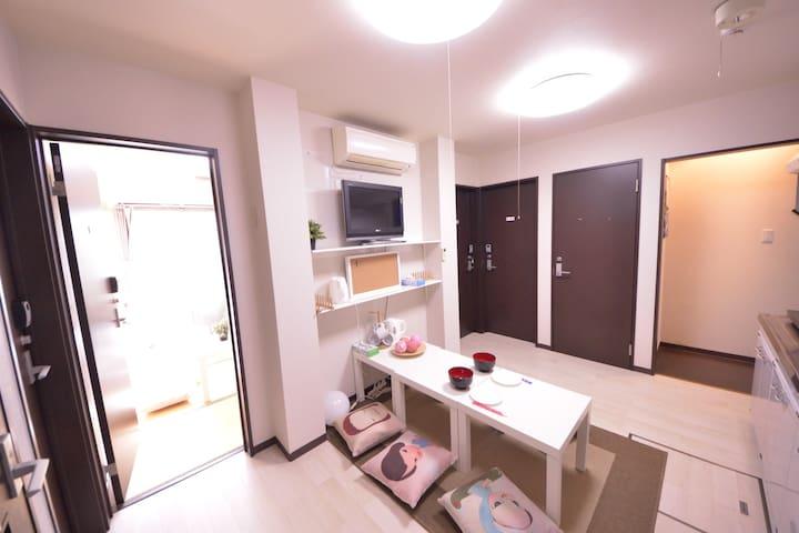 无印之家-文艺主题房 四线地铁开张大优惠 免清洁费、免人头费 - Ōsaka-shi - Apartment