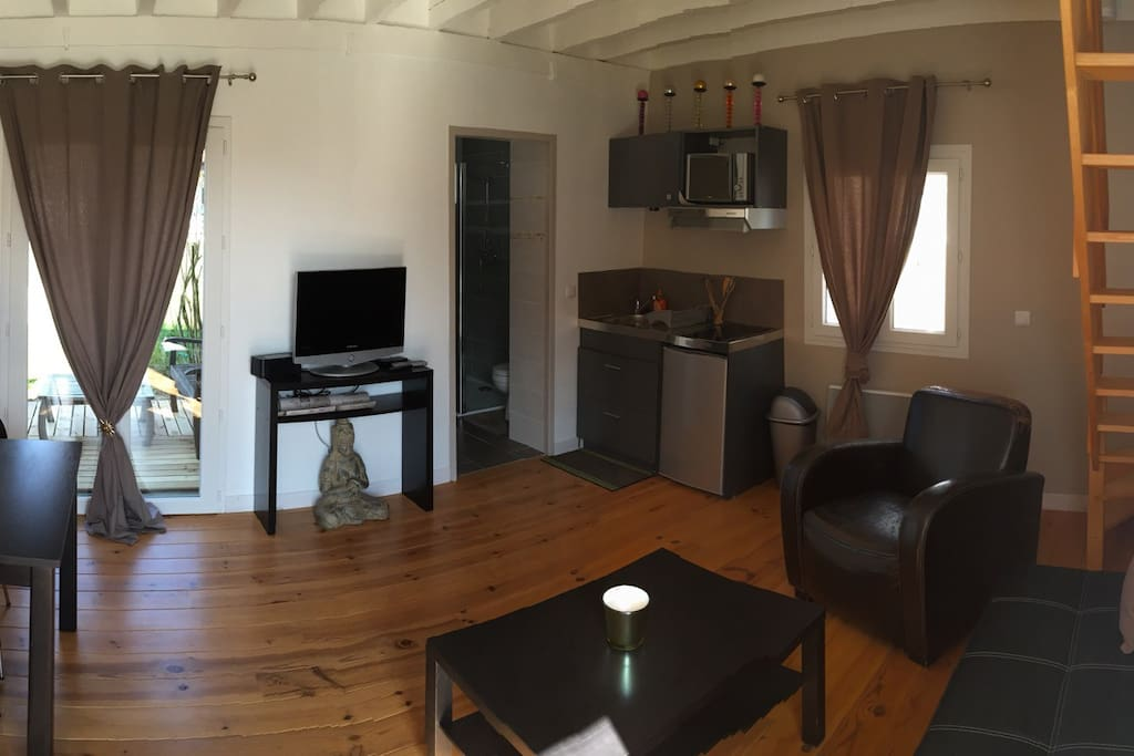 Appartement cosy t2 tresses appartements louer for Location appartement bordeaux pellegrin t2