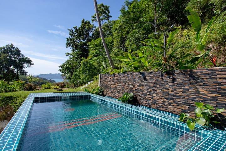 SEAVIEW Estate Villa⎎Private Pool⎎4Bdrs, Patong