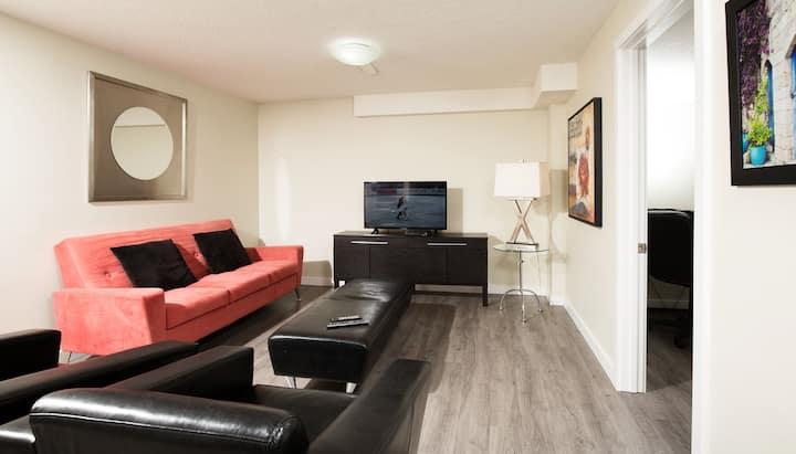 Nice clean 2 bedroom suite.