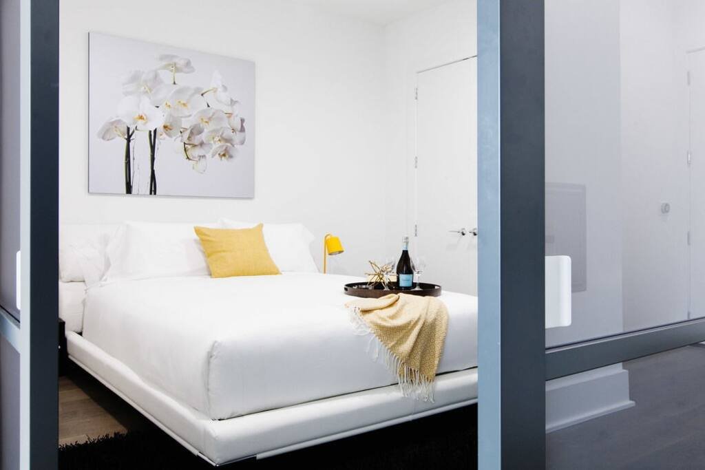Premium Two Bedroom Apartment Master Bedroom Provides a Cosy Haven of Relaxation With The Perfect Amount of Natural Light, Creating a Harmonious Environment and Perfect Balance