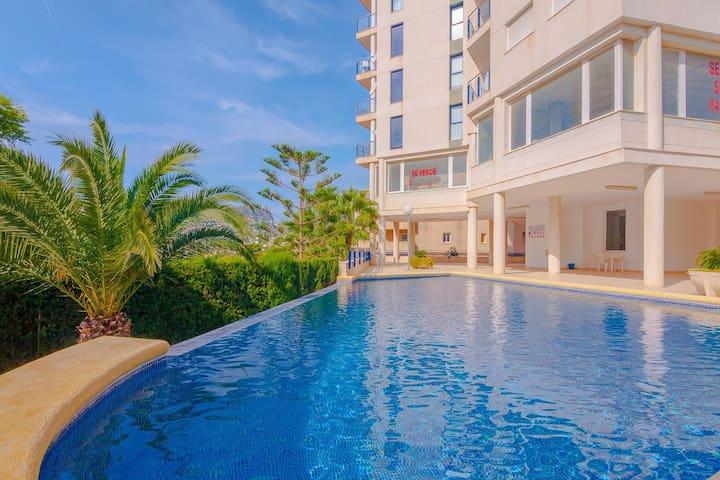 SILVIA, appartement à Calp, Alicante avec piscine communale