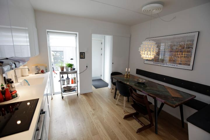 Family-friendly town house w/bikes - Copenhague - Casa
