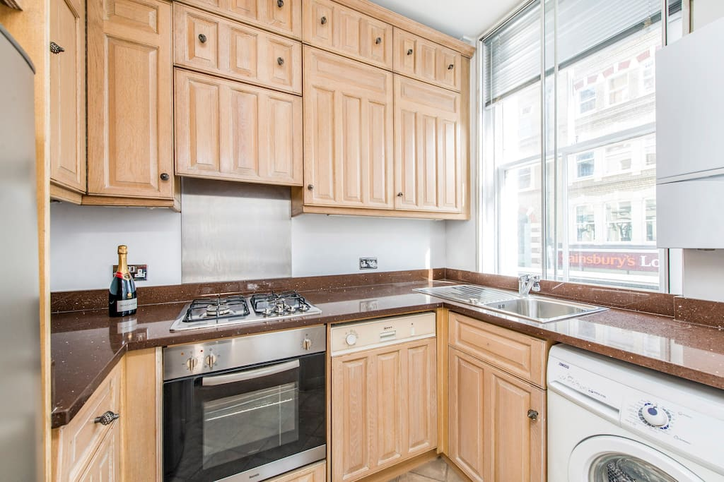 Kitchen with lots of storage and all amenities
