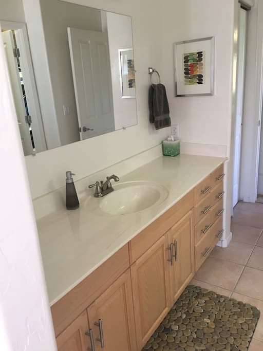 large bath vanity with tons of storage