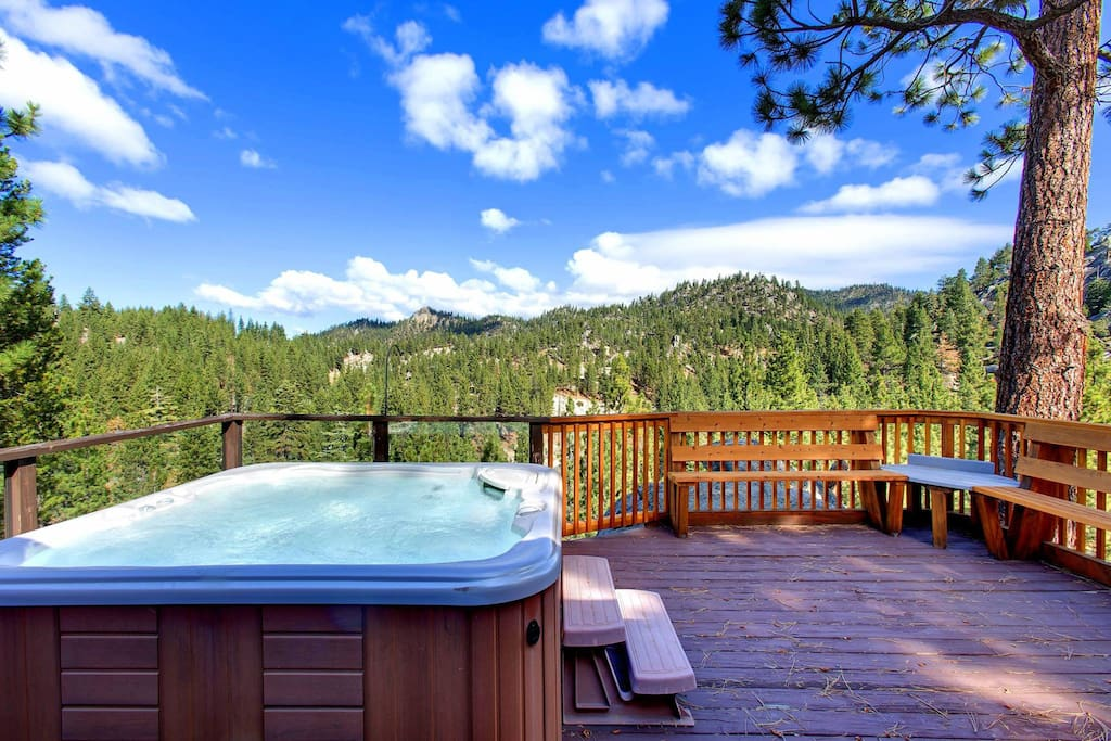 Private deck and spa off Master Bedroom