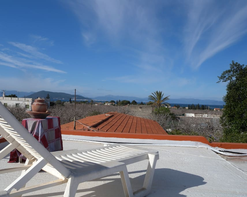 relaxing view at the terrace. ideal for sunbathe