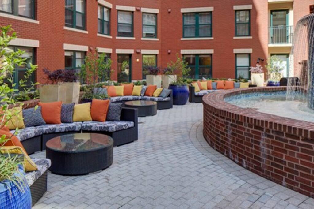 Courtyard lounge.