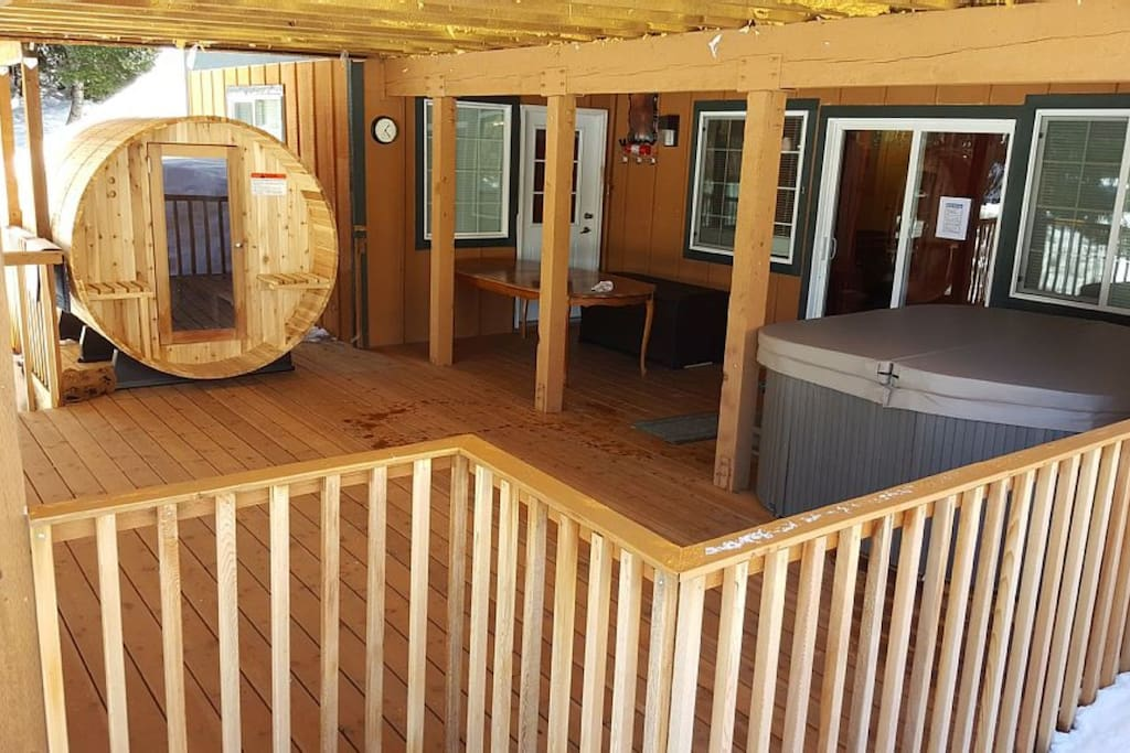 Sauna dry/wet for 6 persons Hot Tub for 6 persons