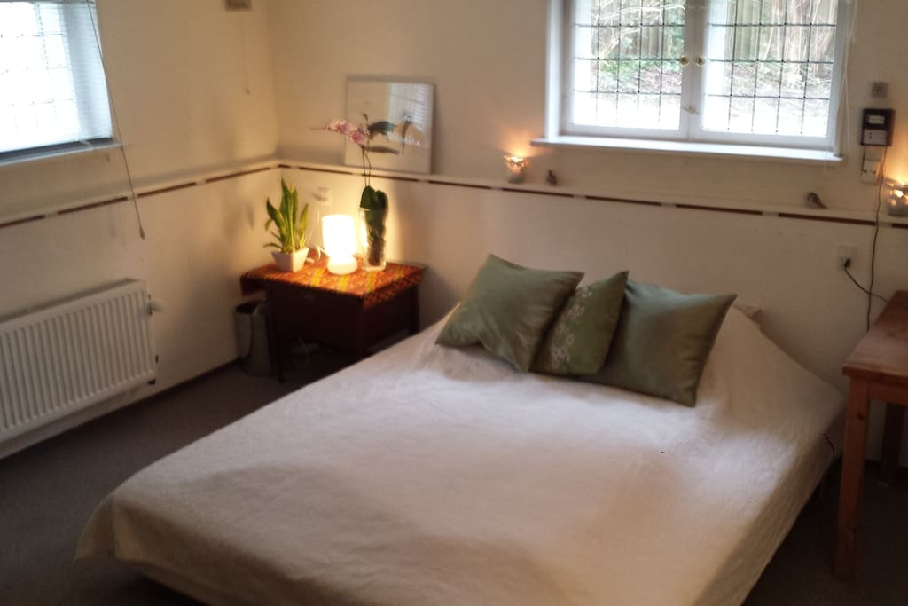 Large room with comfy double bed