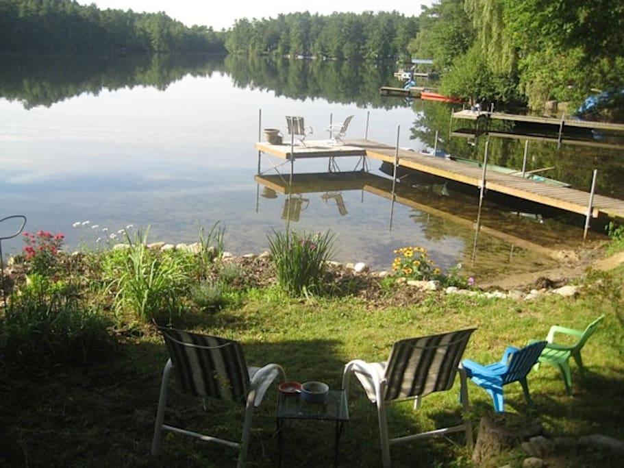 The dock is just steps away from your door