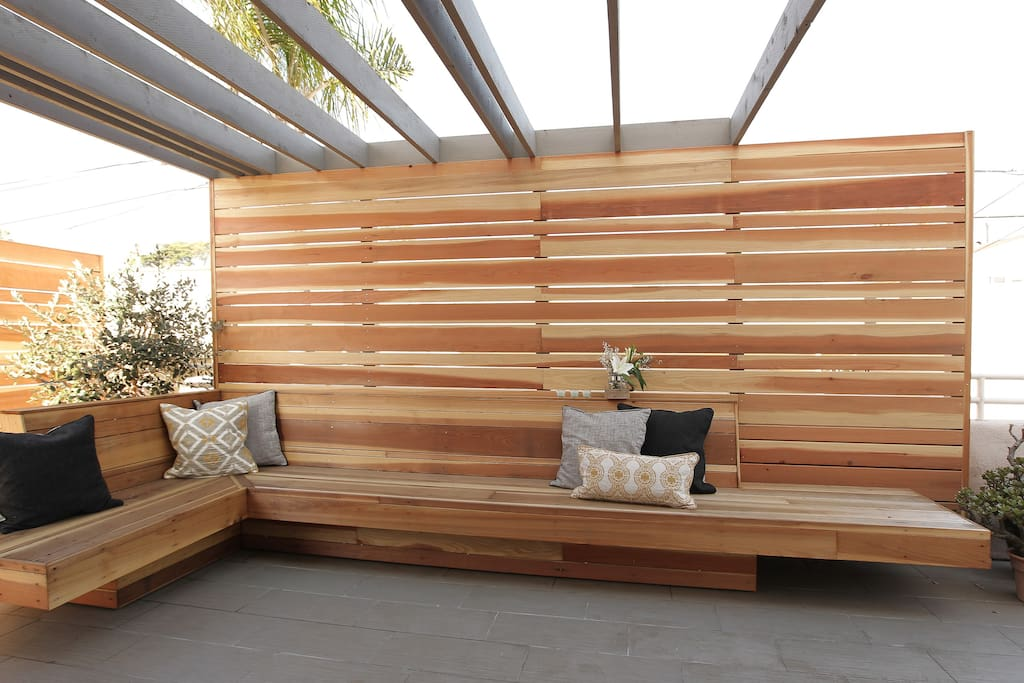 Outdoor Seating for Lounging on the Sunny San Diego Days!