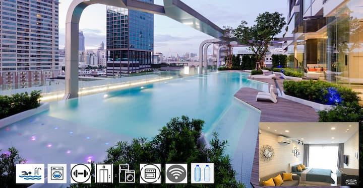 ❤️Super City Center⭐Free Pool Gym⭐The 1975 House 9