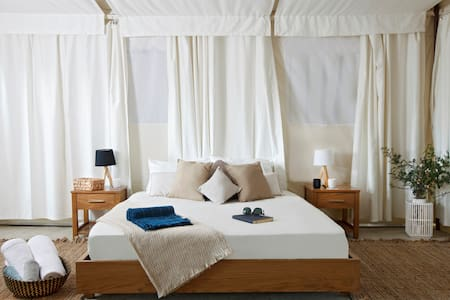 Glamping Tent - Pool- Private Deck - Free Brkfst